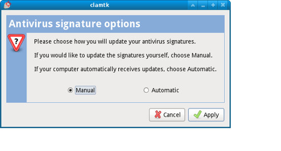 Updating antivirus signatures